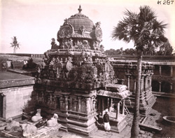 North elevation of the shrine of the Vaidyanatha Temple, Tirumalavadi